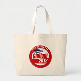 Giuliani 2012 button tote bag