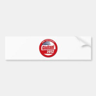 Giuliani 2012 button bumper sticker