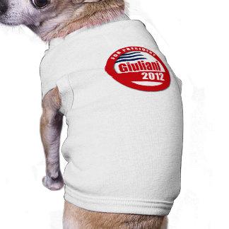 Giuliani 2012 button doggie tshirt