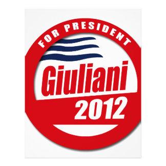 Giuliani 2012 button flyers
