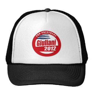 Giuliani 2012 button mesh hats