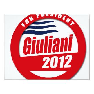 Giuliani 2012 button invites