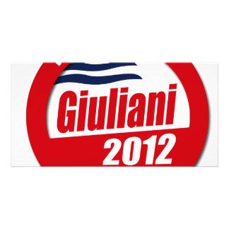 Giuliani 2012 button personalized photo card