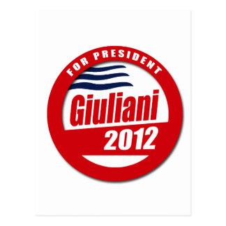 Giuliani 2012 button post cards