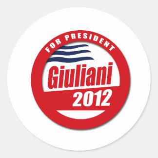 Giuliani 2012 button stickers