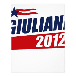 Giuliani 2012 customized letterhead
