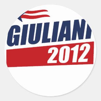Giuliani 2012 round sticker