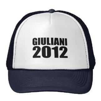 Giuliani en 2012 gorros bordados
