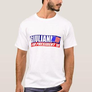 Giuliani for President 08 w/ American Flag T-shirt