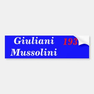 Giuliani Mussolini 1933 Pegatina Para Auto