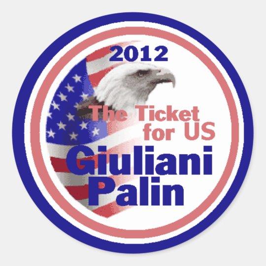 Giuliani Palin 2012 Sticker