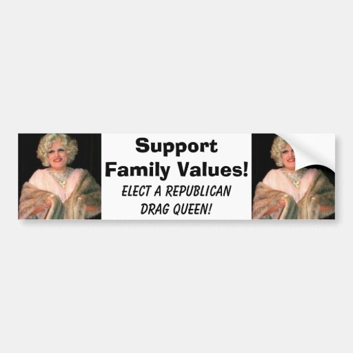 giulianidrag, giulianidrag, SupportFamily Value... Bumper Sticker