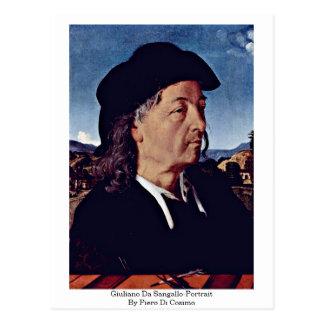 Giuliano Da Sangallo-Portrait By Piero Di Cosimo Postcard