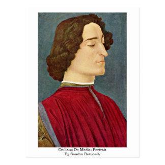 Giuliano De Medici Portrait By Sandro Botticelli Post Cards