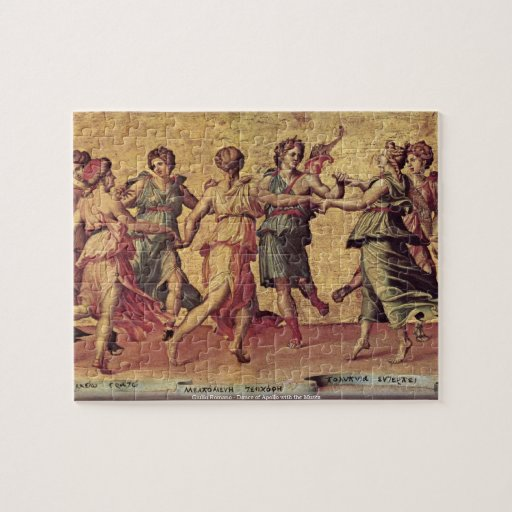 Giulio Romano - danza de Apolo con las musas Rompecabezas