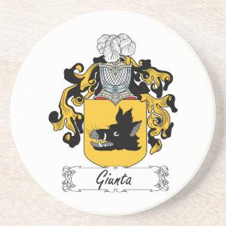 Giunta Family Crest Beverage Coaster