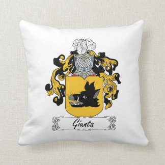 Giunta Family Crest Throw Pillows
