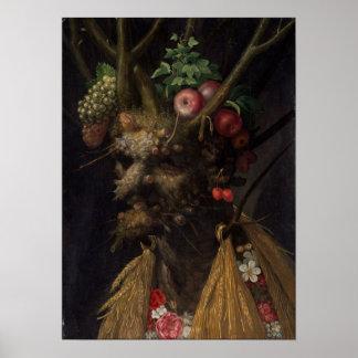 Giuseppe Arcimboldo Four Seasons in One Head Poster