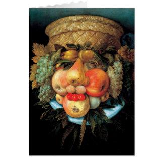 Giuseppe Arcimboldo - Fruit Basket Card