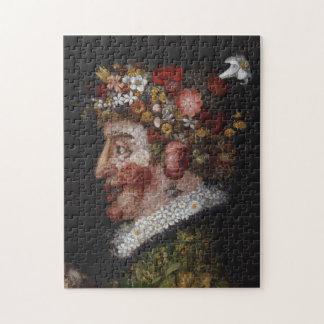 Giuseppe Arcimboldo Puzzle - Flowers on Black