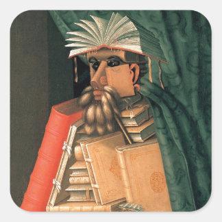 Giuseppe Arcimboldo's Librarian Square Sticker