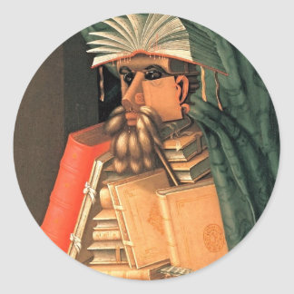 Giuseppe Arcimboldo -- the Librarian Classic Round Sticker