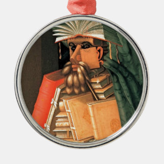 Giuseppe Arcimboldo -- the Librarian Metal Ornament