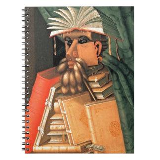 Giuseppe Arcimboldo -- the Librarian Spiral Notebooks