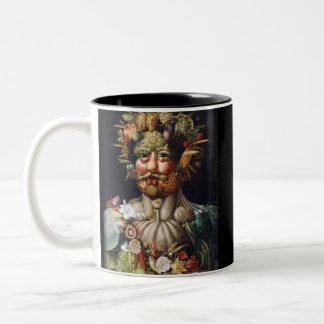 Giuseppe Arcimboldo Vegetable Man (Vertumnus) Two-Tone Coffee Mug