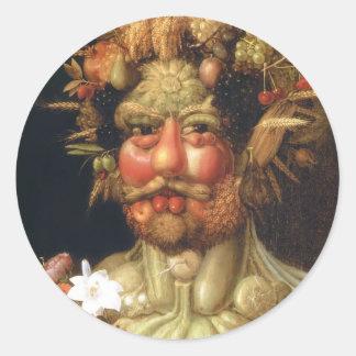 Giuseppe Arcimboldo: Vertumnus (emperador Rudolph Pegatinas Redondas