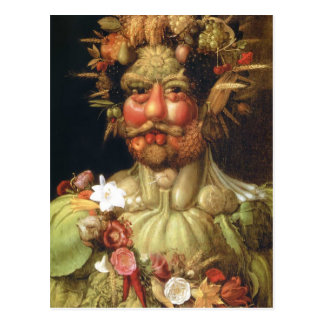 Giuseppe Arcimboldo:Vertumnus (Emperor Rudolph II) Postcard
