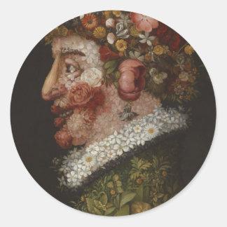 Giuseppe Arcimboldo's La Primavera (1563) Classic Round Sticker