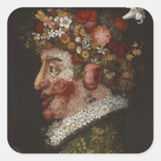 Giuseppe Arcimboldo's La Primavera (1563) Square Sticker