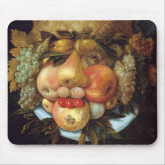 Giuseppe Arcimboldo's Reversible Head with Basket Mouse Pad