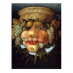 Giuseppe Arcimboldo's Reversible Head with Basket Postcards