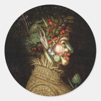 Giuseppe Arcimboldo's The Summer (1563) Classic Round Sticker