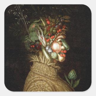 Giuseppe Arcimboldo's The Summer (1563) Square Sticker