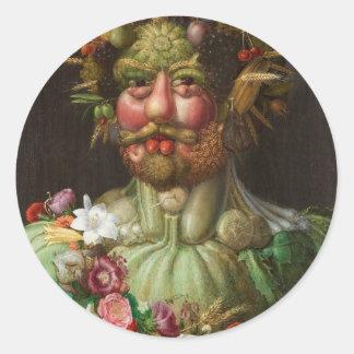 Giuseppe Arcimboldo's Vertumnus (1590) Classic Round Sticker
