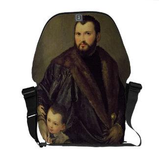 Giuseppe da Porto and his Son Adriano, c.1555 (oil Courier Bag