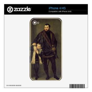 Giuseppe da Porto and his Son Adriano, c.1555 (oil Skin For The iPhone 4