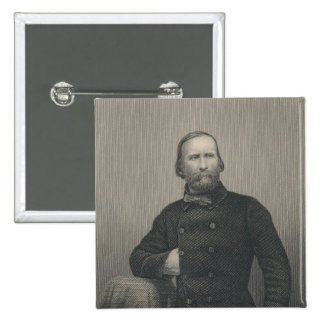 Giuseppe Garibaldi, engraved by D.J Pound 2 Inch Square Button
