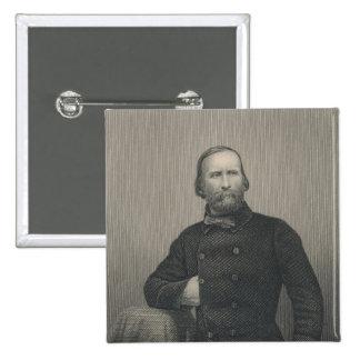 Giuseppe Garibaldi, engraved by D.J Pound Button