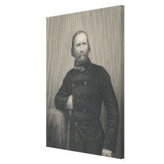 Giuseppe Garibaldi, engraved by D.J Pound Canvas Print