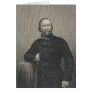 Giuseppe Garibaldi, engraved by D.J Pound Card