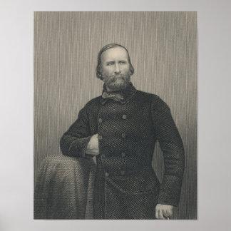 Giuseppe Garibaldi, engraved by D.J Pound Poster