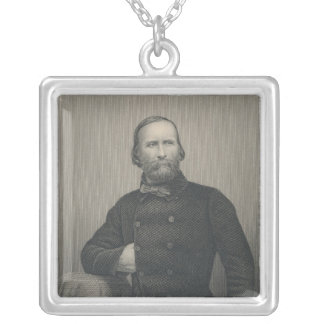 Giuseppe Garibaldi, engraved by D.J Pound Silver Plated Necklace