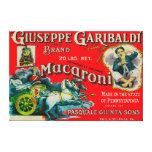Giuseppe Garibaldi Macaroni Label Canvas Print