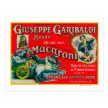 Giuseppe Garibaldi Macaroni Label Postcard