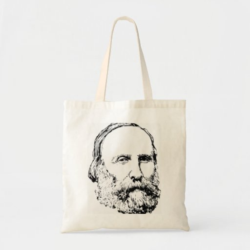 Giuseppe Garibaldi Realistic Sketch Tote Bags