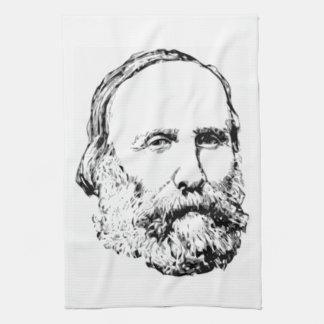 Giuseppe Garibaldi Realistic Sketch Kitchen Towel